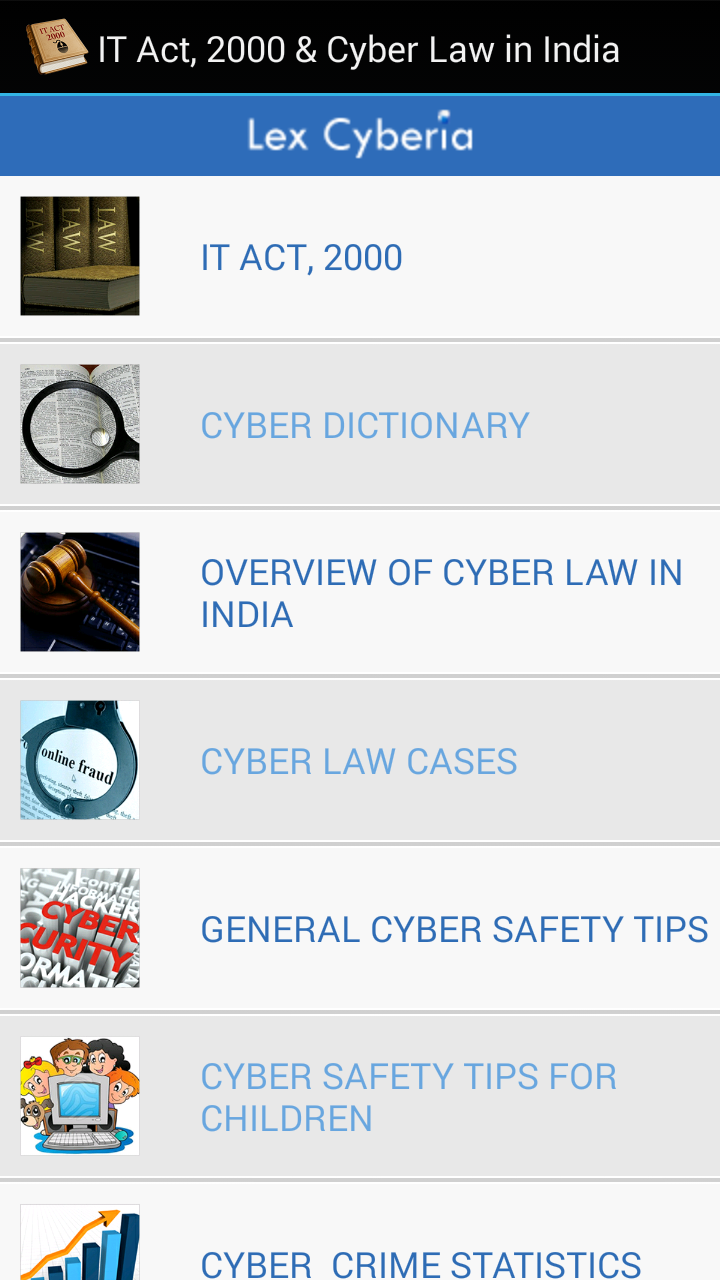 App - IT Act 2000 & Cyber Law in India