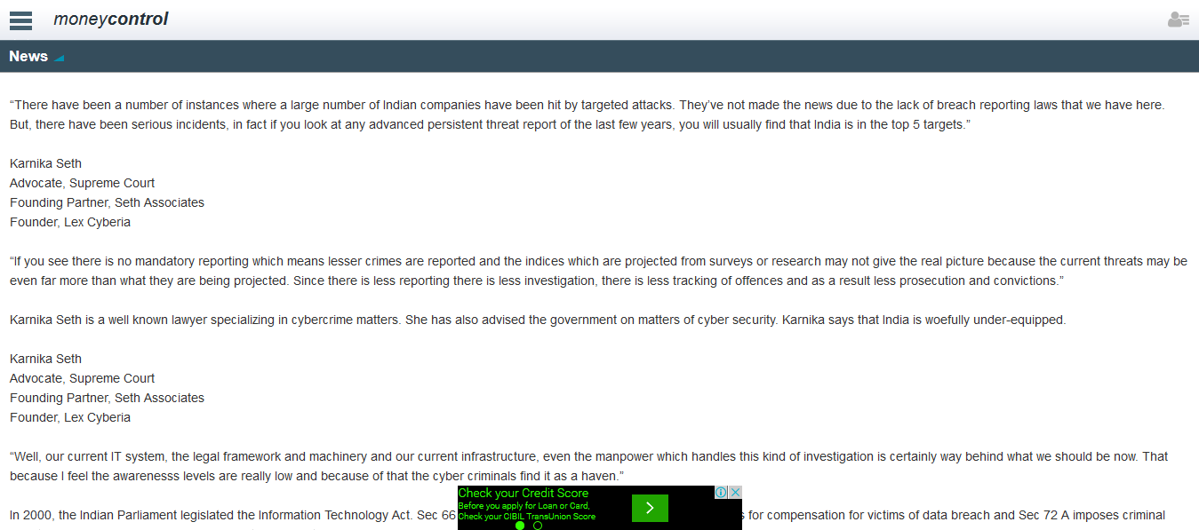 Cyber Crime: India Beware!